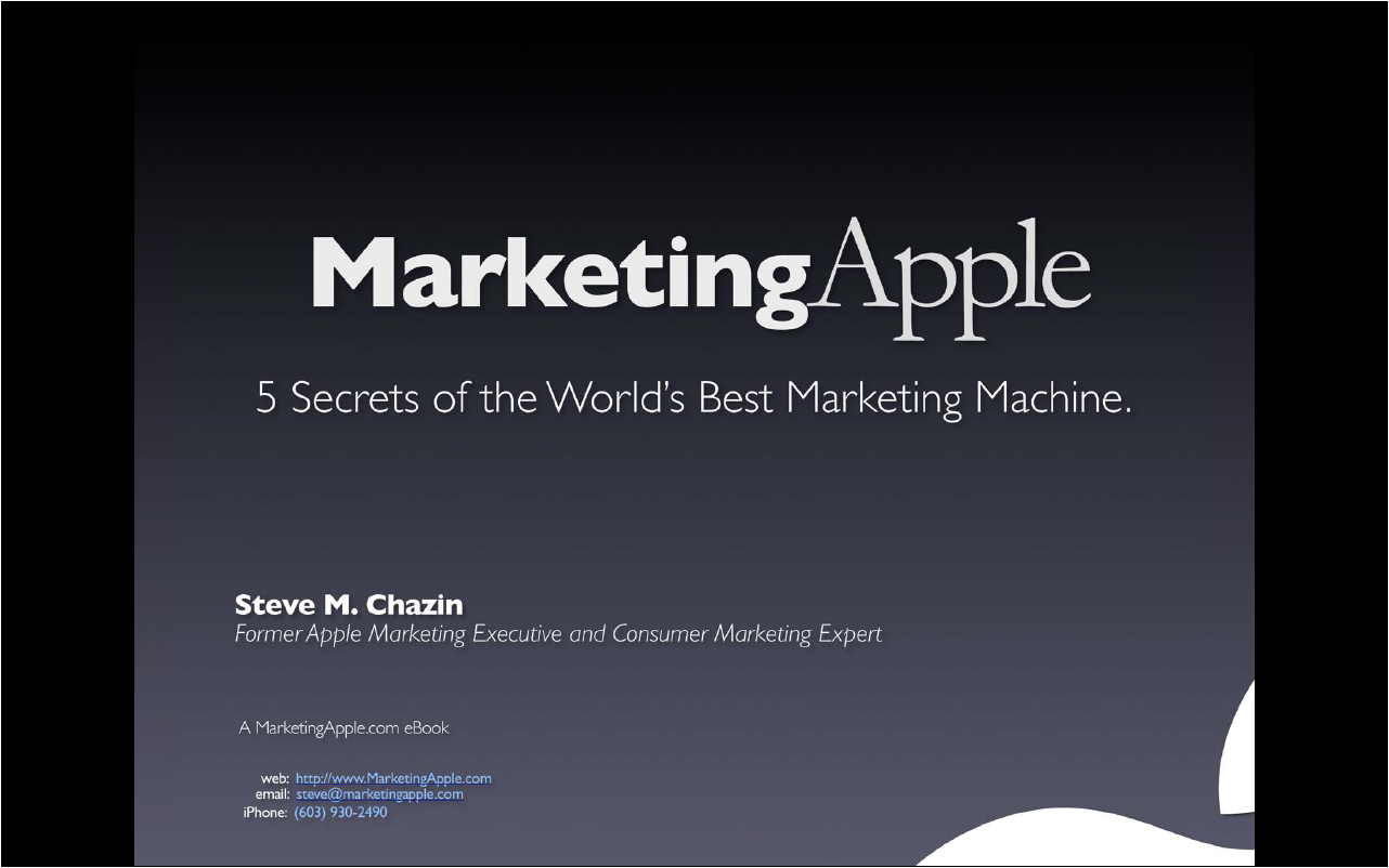 marketing framework apple Holistic marketing in the function of competitiveness of the apple producers in  provide a good framework and direct the development of apple production.