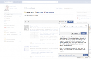 Facebook Sharing - 3. Manage privacy right where you post